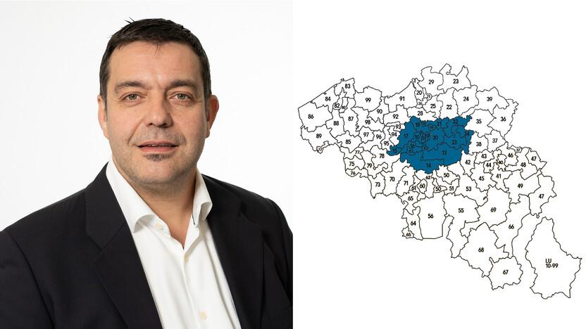 contact person, sales representative, profile and map, Fabrice Alen , Rockfon, BE