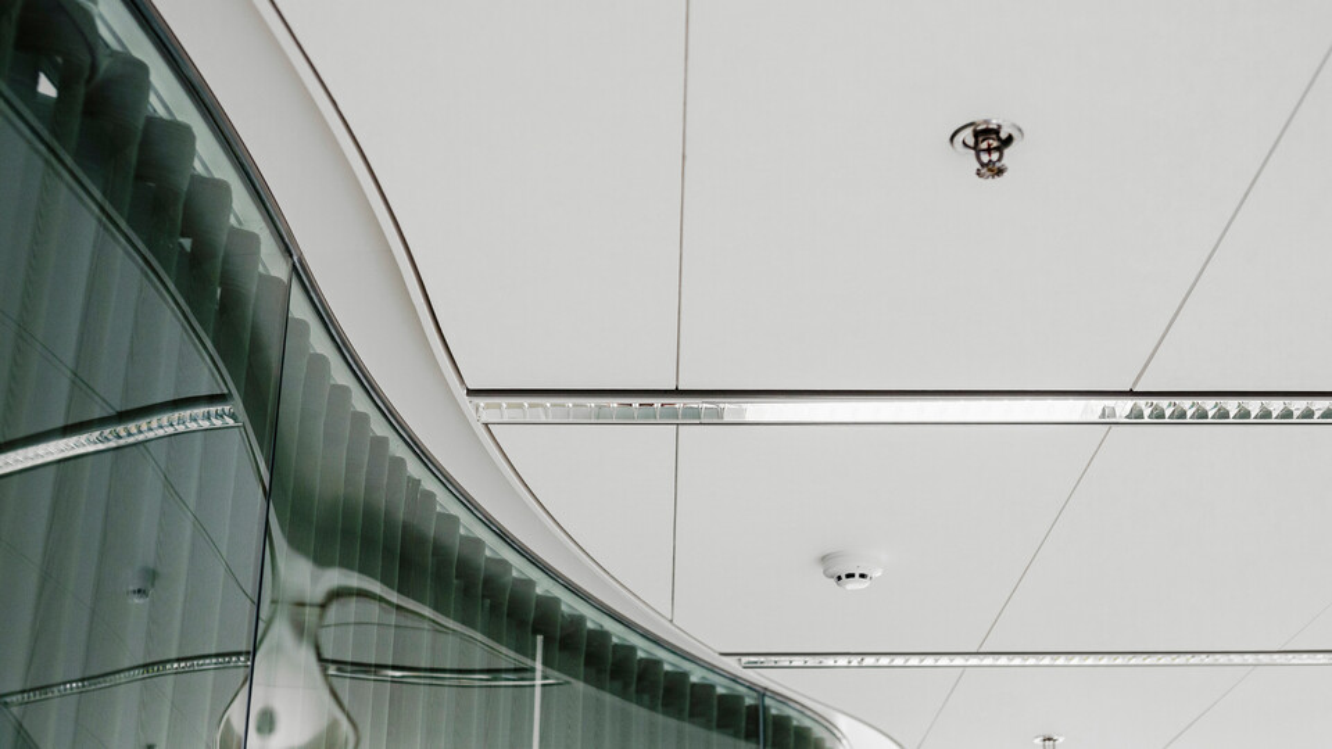 UPM Headquarters, Helsinki, Finland, ALA Architects and Helin & Co Architects, UPM - The Biofore Company, Debreta, KUVATOIMISTO KUVIO OY, Krios, X-edge, Special, White, Rockfon System T24 X